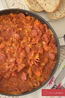 Leczo z kiełbasą Chorizo :)