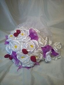 bukiet trwały fiolet