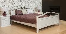 Białe łóżko San Remo od MMI Sleeping