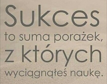 Cena sukcesu to ciężka praca i nie tylko