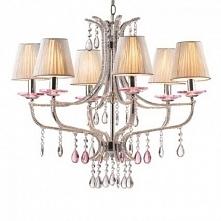 VIOLETTE SP6 IDEAL LUX LAMPA WISZACA      VIOLETTE - nowoczesna lampa wisząca, kandelabr, wykonany z metalowych  części ze szklanymi elementami odbijającymi światło. Lampa pasuj...