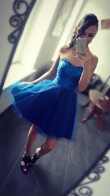 piękna gorsetowa sukienka ^^   #dress #sukienka #niebieska #gorset
