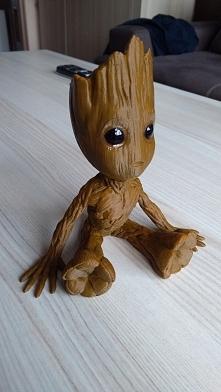 Groot ;-) Mój wydruk 3D :) Wysokość: 15,5cm Szerokość: 15cm. Dla fanów Groota...