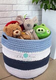 kosz na zabawki/pranie/itp. więcej info na lilylove@poczta.fm lub fb: szydełk...
