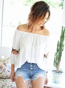 Bluzka haft LATINA biała. Ottanta - sklep online