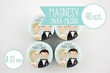 Wyjątkowe upominki dla Waszych gości weselnych - magnesy z Młodą Parą. Możeci...
