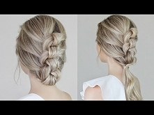 Easy Knotted Updo & Pon...