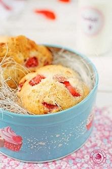 Ciasteczka z truskawkami i czekoladą - Wypieki Beaty