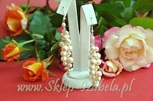 długie kolczyki z perełkami, ślub