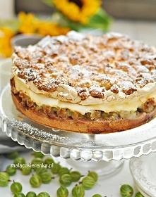 Najlepsze ciasto z agrestem – Kruche ciasto z agrestem i pianką. Przepis po k...