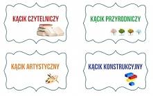 Etykiety: - kącik czytelniczy, artystyczny, konstrukcyjny i przyrodniczy