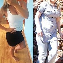 66,6 dziś a obok 64 :) nigdy nie sugeruj się wagą :) To mnie motywuje zawsze :)