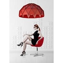 AVANTADOR 80 cm 108380A08W111 Cleoni lampa wisząca czerwona matowa   AVANTADO...