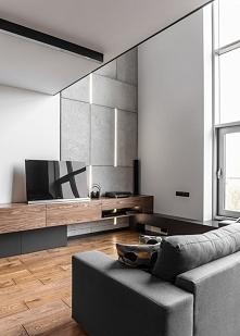Apartament Poznań, salon /3 uwielbiam beton w tej formie