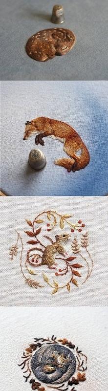 "To trzeba mieć talent *__* ""Chloe Giordano Embroidery"""