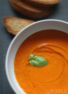 najlepszy krem z pieczonych pomidorów z karmelizowanym czosnkiem Krem z pomid...