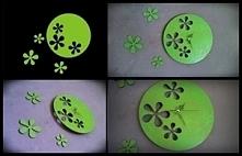 Zegar-kwiaty, własnego projektu. Co sądzicie? :) <3