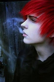 O taak czerwone włosy na  +