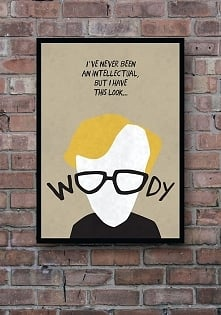 Woody Allen - plakat 50x70 cm - art giclee print