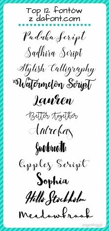 Moje ulubione fonty z dafon...