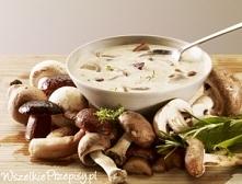 Zupa ze świeżych grzybów, przepis na blogu: Kuchnia Wg Kacpra.