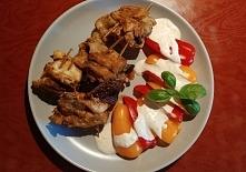 Roladki drobiowe z suszonymi pomidorami i papryczki w sosie czosnkowym :)