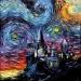 Hogwart w stylu Van Gogh'a.