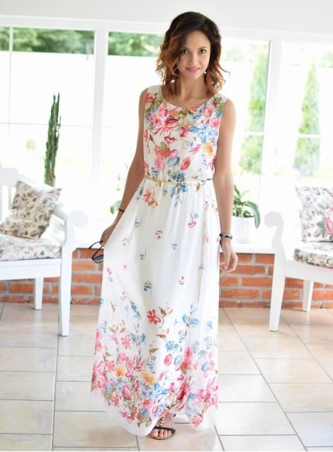 Maxi sukienka DIVA II biała. Ottanta - sklep online