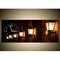 FotoZegar - 70 x 150 cm - idealny prezent! Ozdoba mieszkania / domu Lampy Miasto Nocą! Kliknij w zdjęcie, by przejść do sklepu! SmartGift.pl