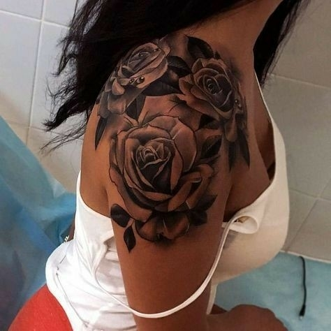 Róże Na Ramieniu Na Tatuaże Zszywkapl