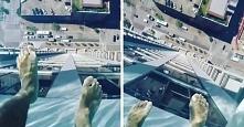 szklany basen na wysokości 153 m  ja bym nie dała rady tam wejść a Wy?