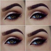Piękny makijaż z kreską