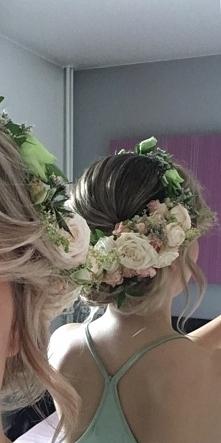 wianek wesele fryzura ślub