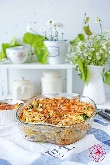 Zapiekanka z brokułem i mięsem - Wypieki Beaty