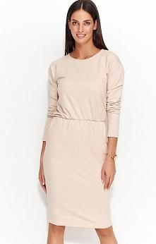 Numinou NU57 sukienka nude Komfortowa sukienka, wykonana z wysokiej jakości materiału dresowego, po bokach kieszenie