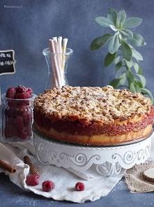 Łatwa szarlotka z malinami / Easy apple cake with raspberries
