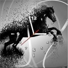 FotoZegar - 40 x 40 cm - idealny prezent! Ozdoba mieszkania / domu Koń! Kliknij w zdjęcie, by przejść do sklepu! SmartGift.pl