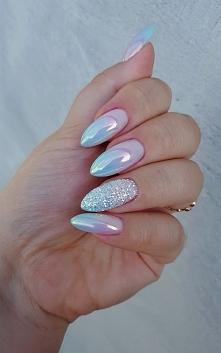 ombre, crystal mirror nails company, kopciuszek indigo
