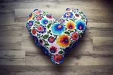 Folkowa poduszka-serce