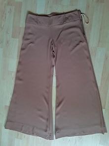 Spodnie szerokie RIVER ISLAND rozmiar 38 tylko 10 zł! kolor jasny brąz z boku...