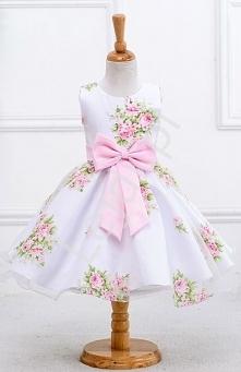 Biała sukienka dla dziewczy...
