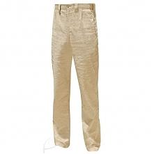 Lniane, piaskowe spodnie mę...