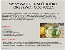 Sassy water – napój który orzeźwia i odchudza.