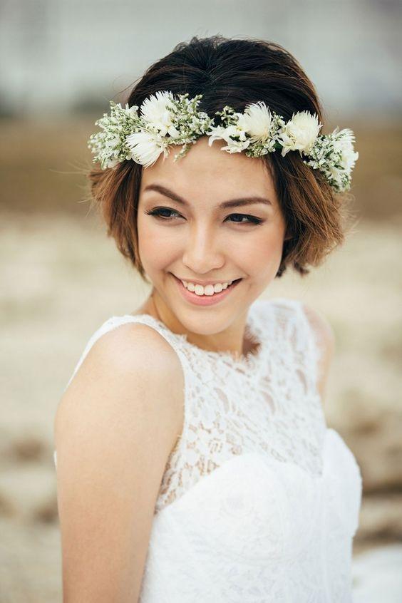Też masz krótkie włosy? Znalazłam ciekawe inspiracje fryzur na ślub! Więcej na Feszyn.com