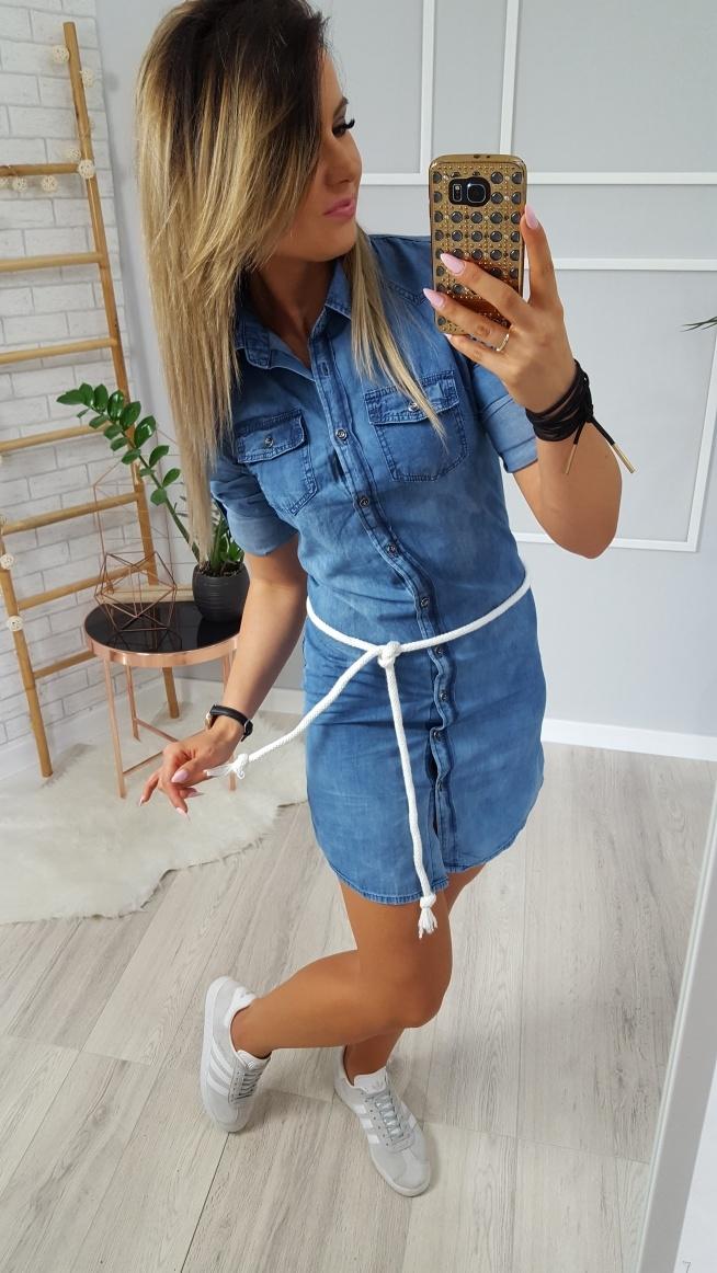 7d628cce50 Sukienka jeansowa z paskiem Ve-neziana dostępna link pod zdję.. na ...
