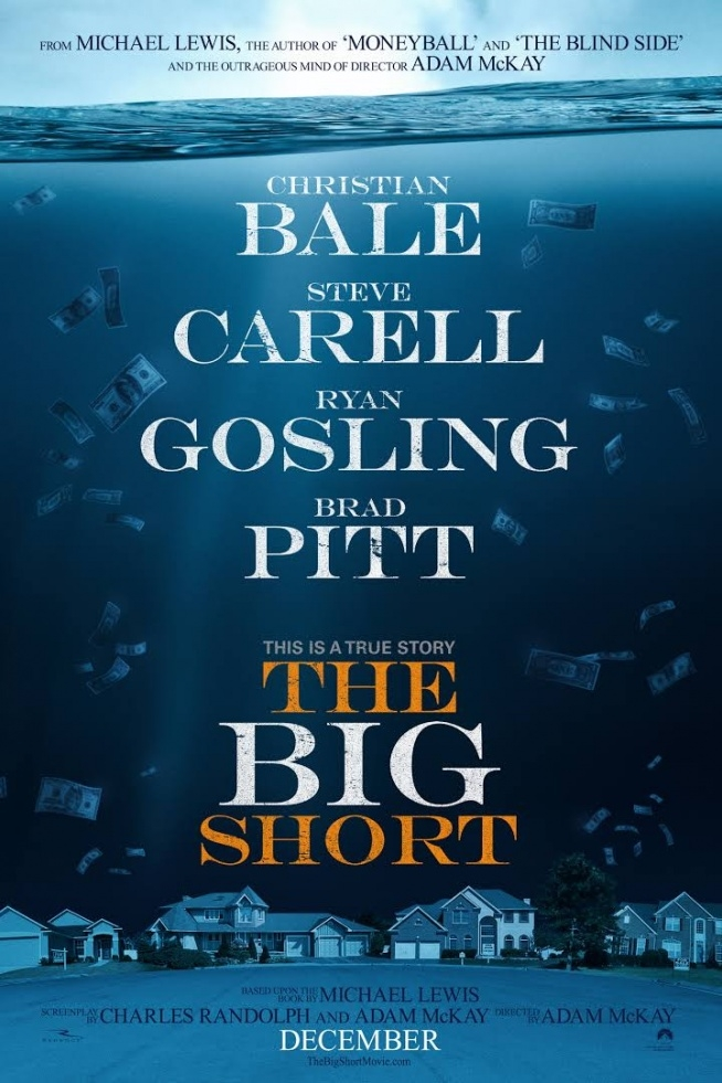Big short - świetny film, nie spodziewałam się, ze film o finansach, nieruchomościach, bankach, inwestycjach - może byc tak wciągający!! :) świetna obsada. Polecam