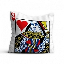 Poszewka Karta Damy Queen - - idealny prezent dla mamy, siostry, babci, żony....