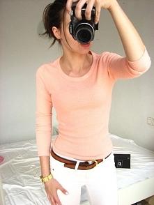 Nowy Cropp różowy sweterek ...