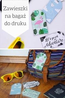 DIY Zawieszki na bagaż do druku - 3 piękne wzory + laminowanie bez laminatora...