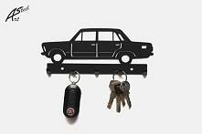 Fiat 125p - wieszak na klucze - art-steel.pl